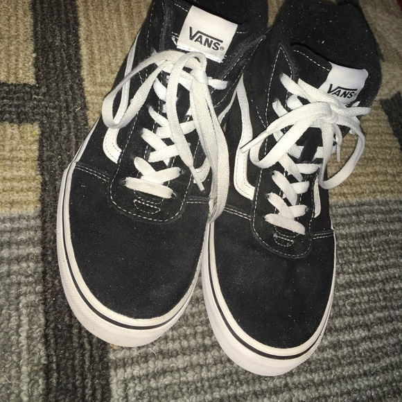 Vans Shoes | Kids High Top Black And